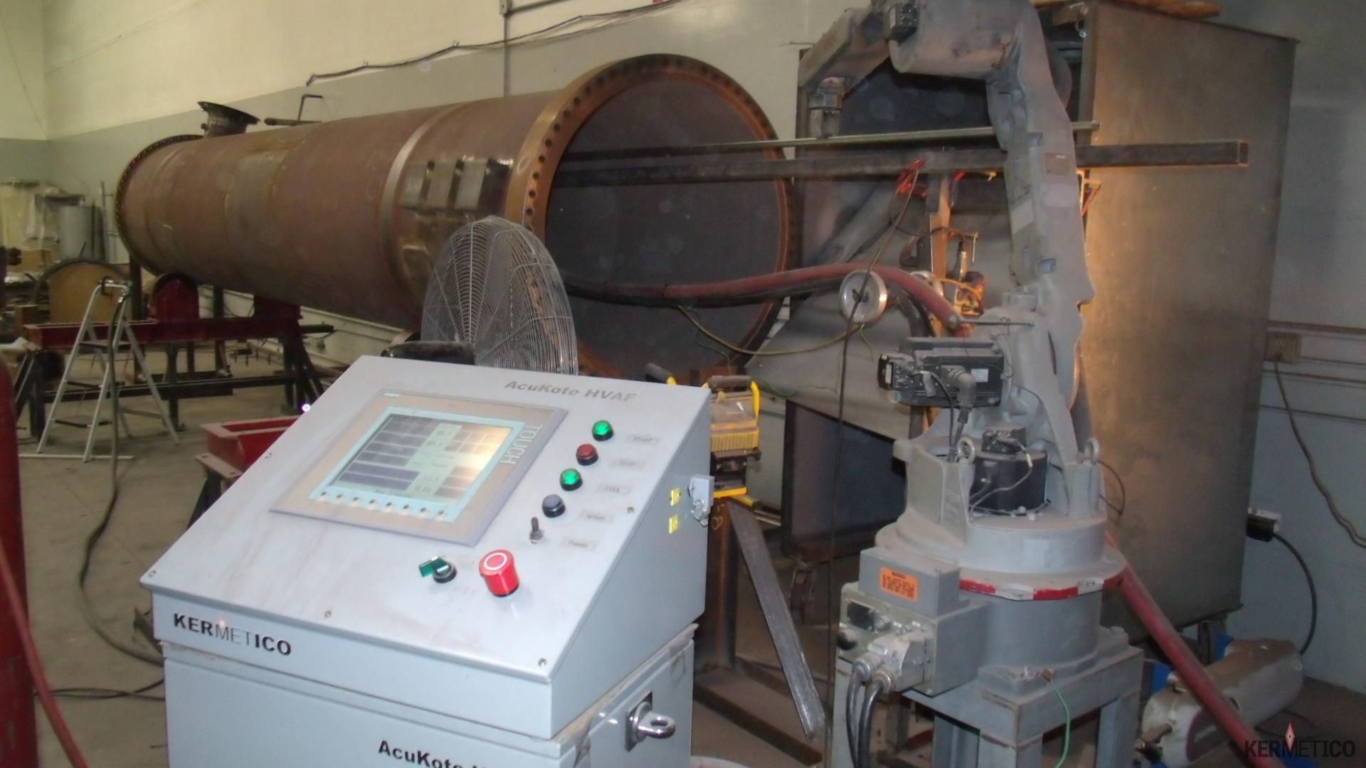 HVAF Equipment Etup for a Heat Exchanger Coating