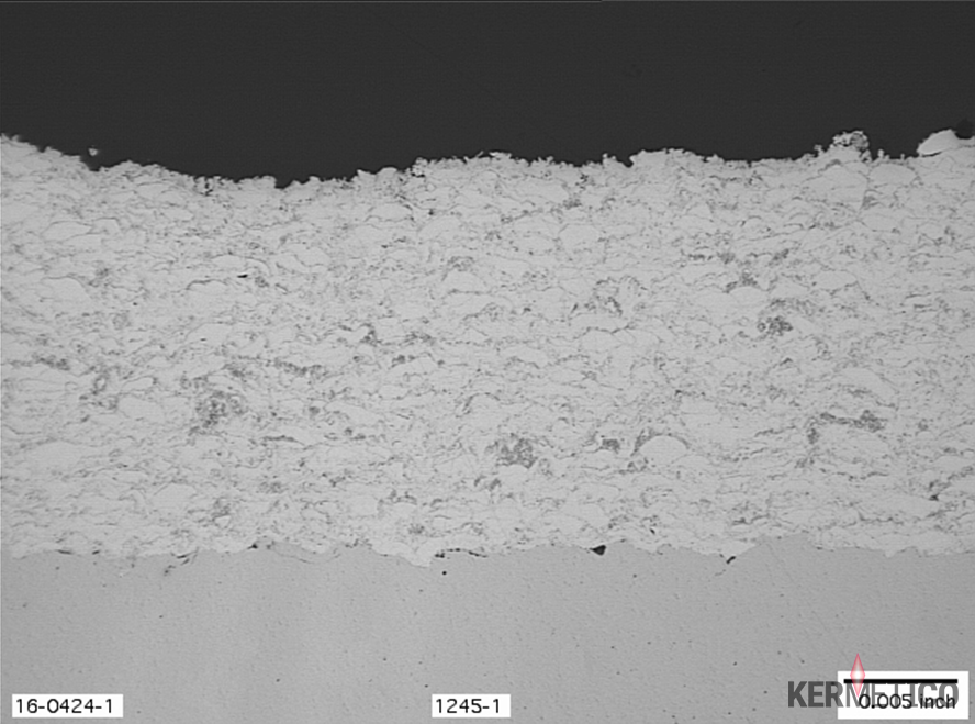 A Typical Micrograph of a Kermetico HVAF Sprayed Fe-based Coating