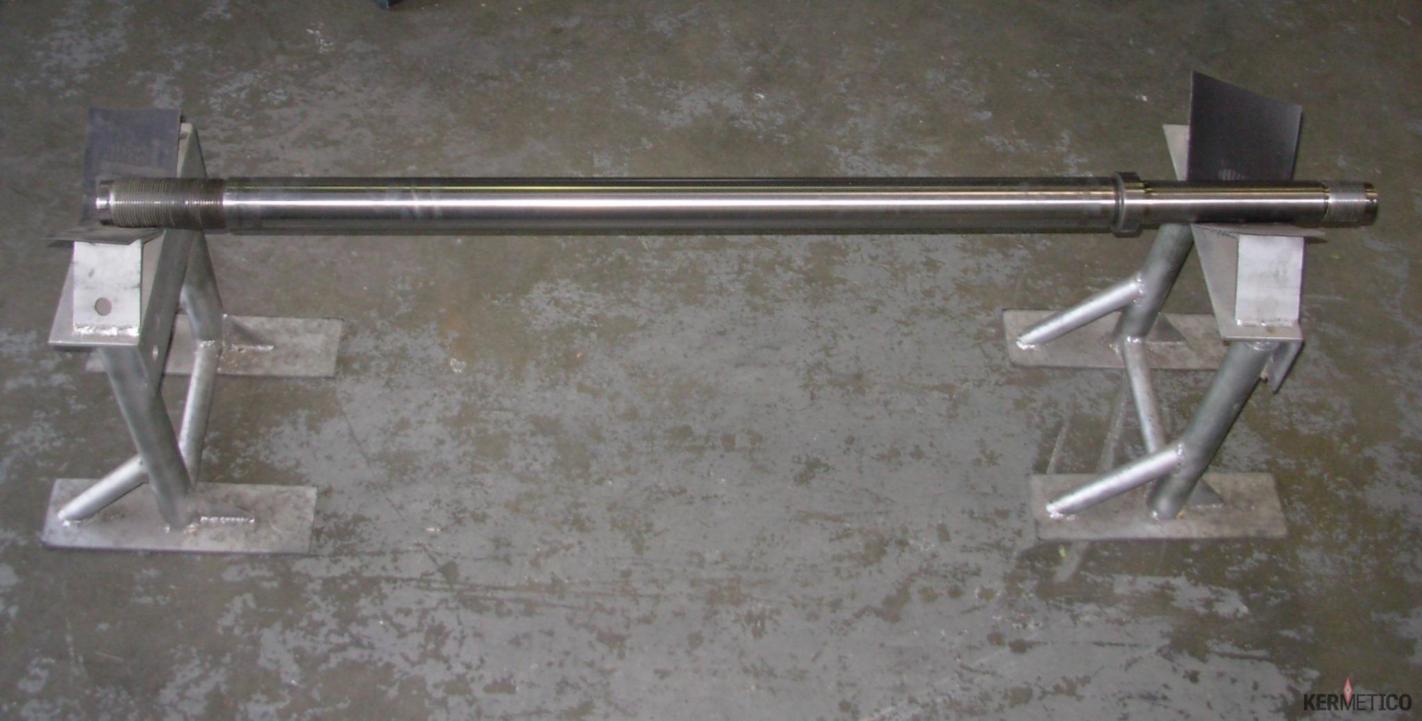 A Polished Compressor Rod with Kermetico HVAF Coating