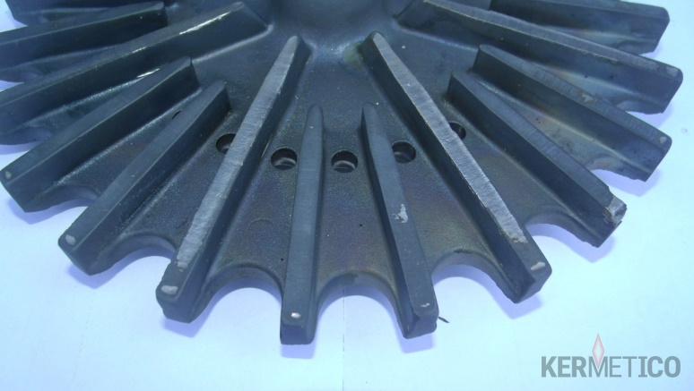 Worn Slurry Pump Impeller