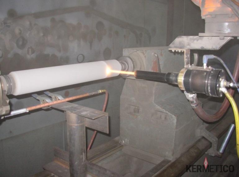 HVAF HVOF Thermal Spray Tungsten Carbide Pump Plunger Coating