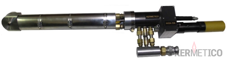 High-pressure air flow insures the effective cooling of both the gun and the part