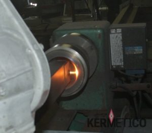 "The Kermetico HVAF System Coating in a 4"" (100 mm) ID Sleeve"