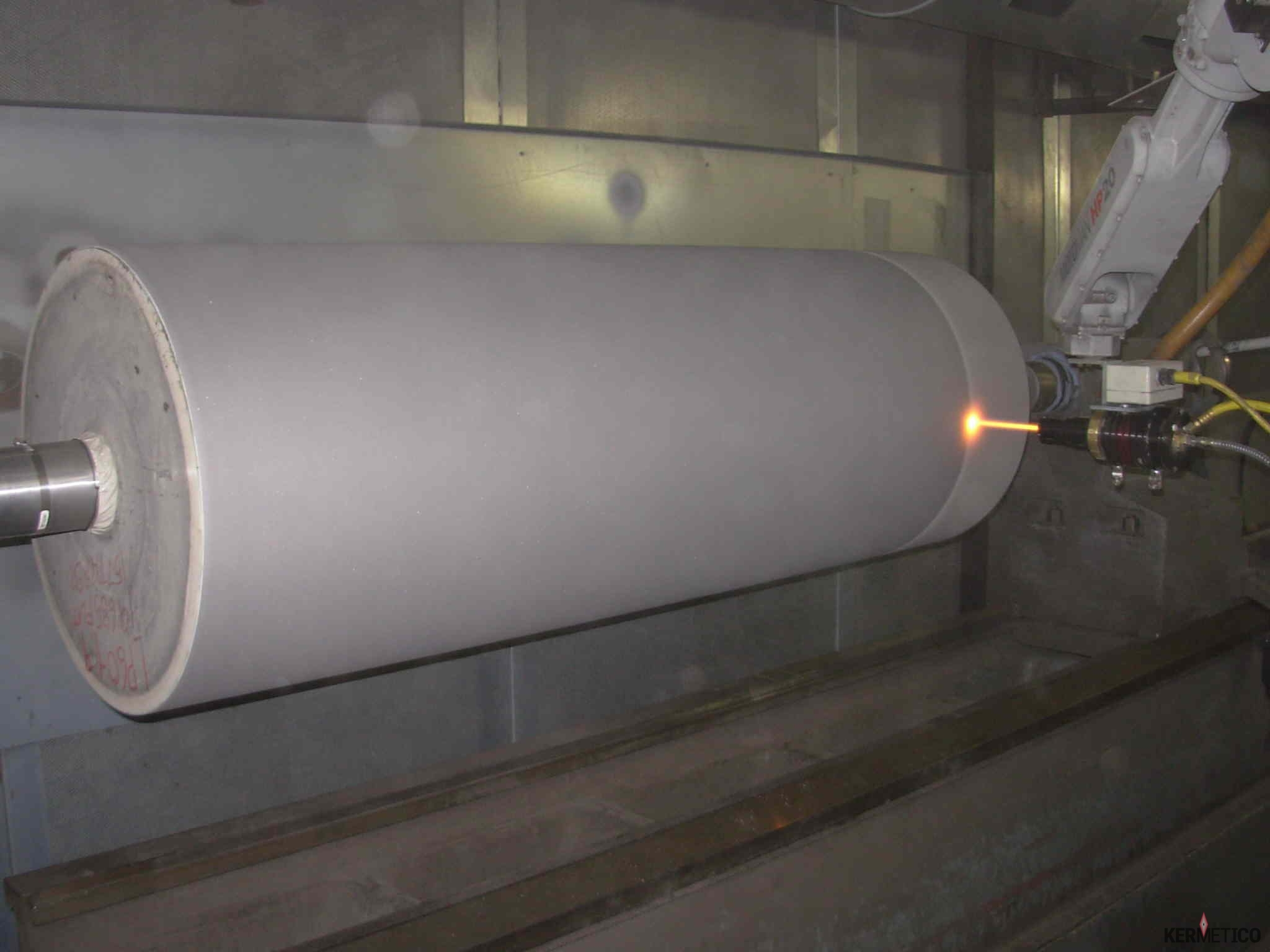 The Kermetico HVAF AK System Deposits a Tungsten Carbide Paper Roll Coating