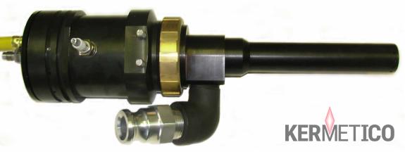 The Kermetico HVAF STi Specialized High Velocity Air Fuel Gun for Repair with Titanium Cladding