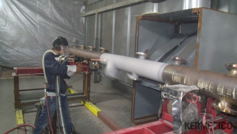 The Manual Application of a Metal Coating onto a Mandrel with Kermetico HVAF AK-HH