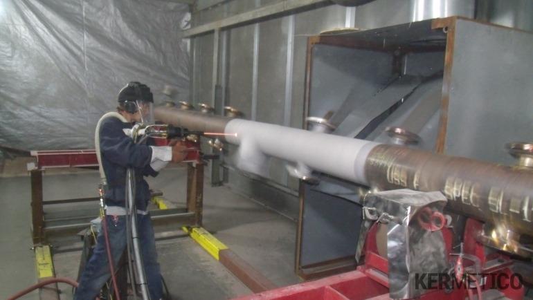 The Manual Application of a Metal Coating onto a Mandrel with Kermetico HVAF AK-HH