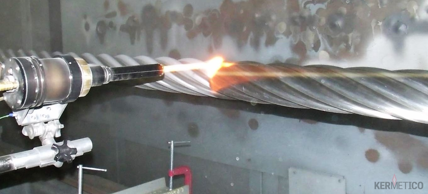 A Mud Rotor in the Process of HVAF WC-10Co-4Cr Coating