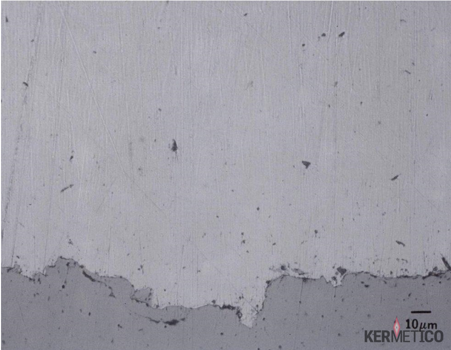 A Kermetico HVAF Thermal Spray Metal Silver Coating