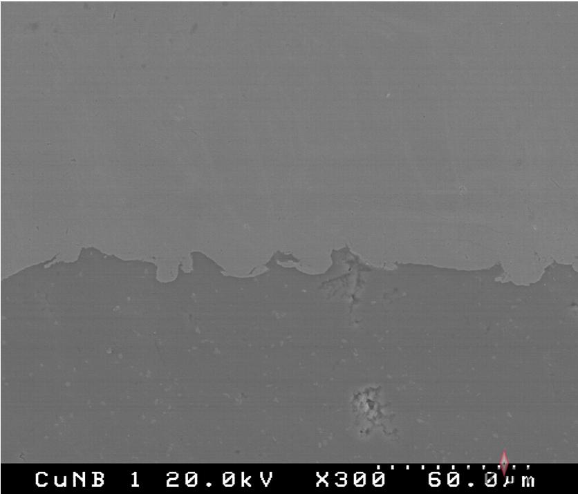 A Micrograph of a Kermetico HVAF Copper Conductive Coating