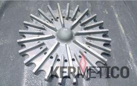 Slurry pump impeller wear protected with HVAF tungsten carbide coating