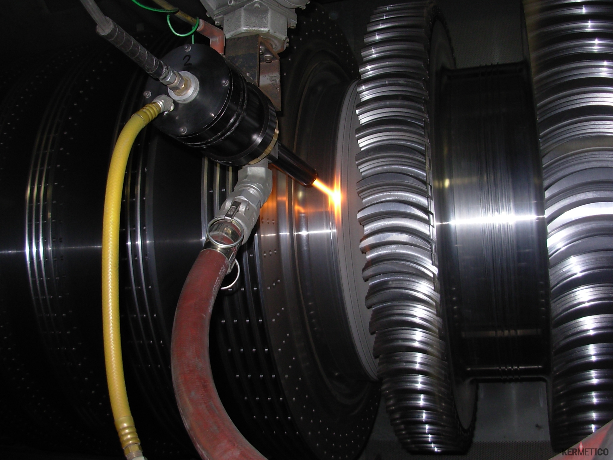 HVAF Coating of a Geothermal Rotor after Solvent Cleaning