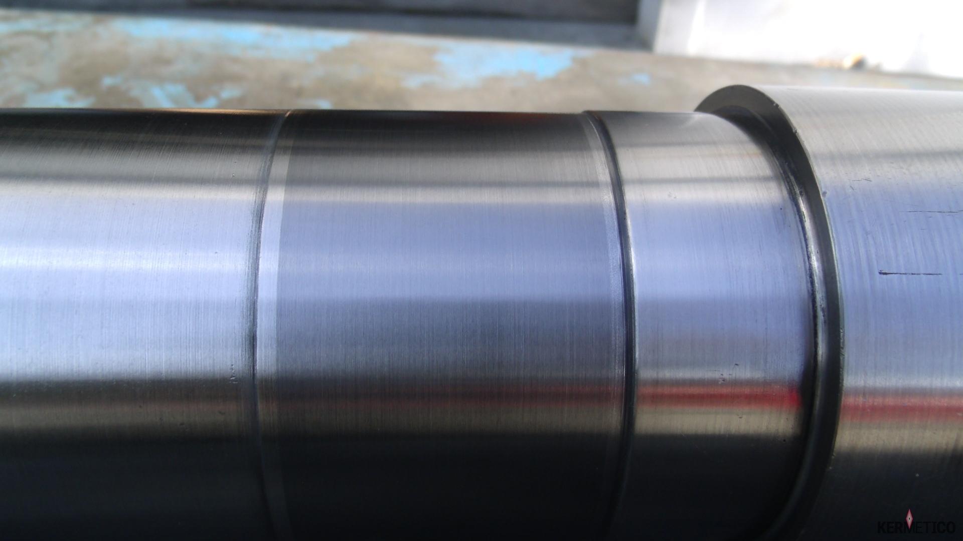 A Polished Shaft with a Kermetico HVAF Coating